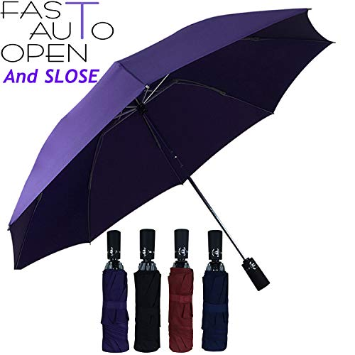 Double Layer Inverted Umbrella Auto Open Reverse Folding Umbrella Windproof UV Protection Big Straight Umbrella for Car Rain Outdoor Use