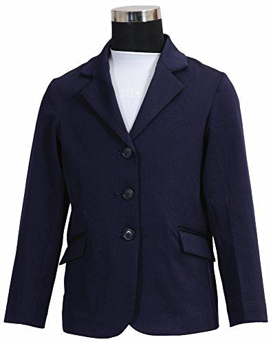 Equine Couture Girl's Raleigh Show Coat, EC Navy, 14