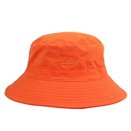 Home Prefer Unisex Mens Womens Lightweight Breathable Daily Summer Boonie Hat Sun Protection Bucket Hat Outdoor Fishing Hat, Orange