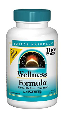 Source Naturals Wellness Formula Bio-Aligned Vitamins & Herbal Defense - Immune System Support Supplement & Immunity Booster - 240 Capsules (Stress Caps Formula 90)