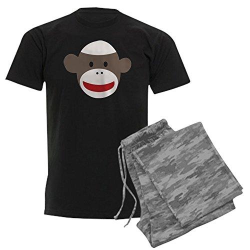 CafePress Sock Monkey Face Men's Dark Pajamas -
