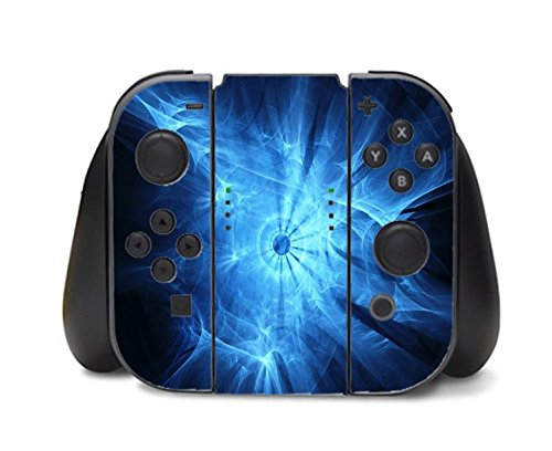 Blue Orb Design Artwork Nintendo Switch Controller Vinyl Decal Sticker Skin by Moonlight Printing