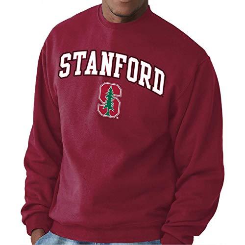 Campus Colors Stanford Cardinal Adult Arch & Logo Gameday Crewneck Sweatshirt - Cardinal, -