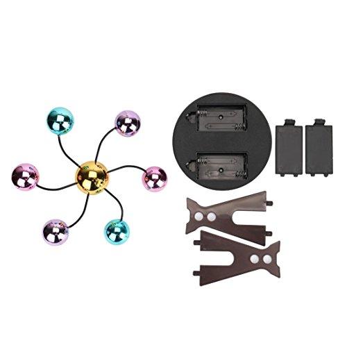 7a7cf528eb4 Elettronico Perpetuo Movimento Scrivania Giocattolo Girevole Balance Balls  Giocattolo di scienze fisiche Revolving Balance Balls Physics Science Toy  Rawdah ...
