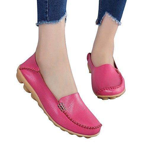 Blivener Womens Casual Loafers Walking Flat Schoenen Comfort Summer Slippers Rosy