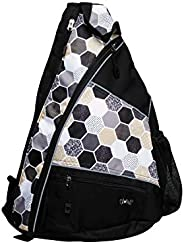 Pickle Ball Bag - Glove It - 19 in x 13 in Adjustable Shoulder Strap Pickle Ball Sling Bag - Holds up to 6 Pic