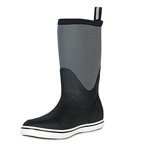 XTRATUF Performance Series 12'' Men's Neoprene & Rubber Deck Boots, Black & Castle Rock (22603) by Xtratuf