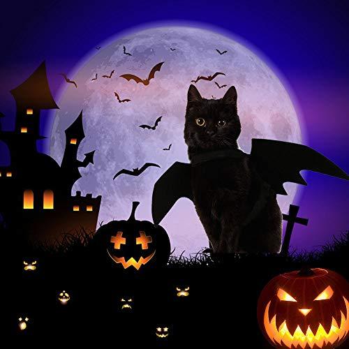 Ausein Halloween Pet Bat Wings Costume for Cat