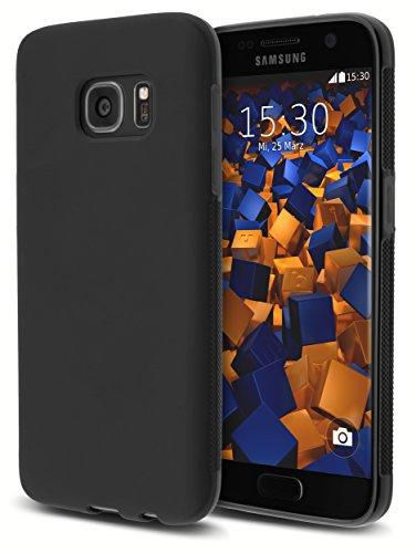 mumbi double GRIP Hülle für Samsung Galaxy S7 Schutzhülle schwarz