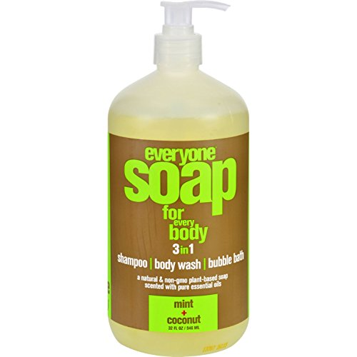 (EO Products Natural Everyone Hand Soap Liquid, Mint and Coconut, 32 Ounce)