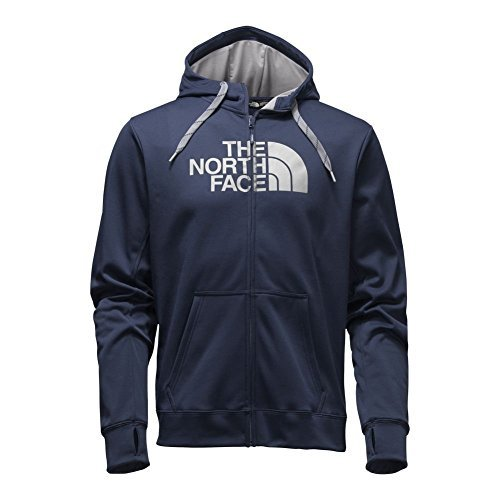 The North Face Surgent Half Dome Full Zip Hoodie Mens Cosmic Blue/Mid Grey S (United Face Down Jacket compare prices)