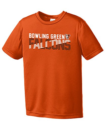 NCAA Bowling Green Falcons Youth Boys Diagonal Short sleeve Polyester Competitor T-Shirt, Youth (Bowling Green University Basketball)