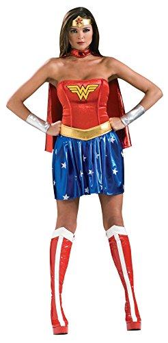 Ultimate Halloween Costume UHC Women's Sassy Wonder Woman DC Comics Sexy Dress Halloween Themed Costume, X-Small (0-2) -