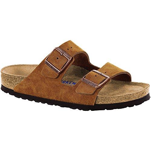 - Birkenstock Arizona Soft Footbed Mink Suede Sandals 38 (US Women's 7-7.5)