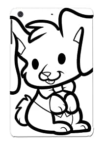 Ipad Mini/mini 2 PPKRMac2299JiWFt Have Fun Coloring Thi Picture Of A Lovely Rabbit Itting And Wearing Tpu Silicone Gel Case Cover For Lovers