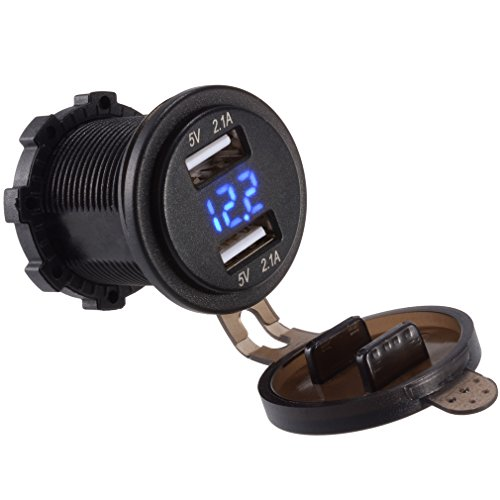 Marine Battery Charger And Monitor : Ably a dual usb charger socket power outlet