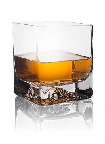 Iceberg Whiskey Glasses, Square - 6.7 Ounce - - Cheap Whiskey Glasses