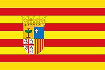 Durabol Bandera de Aragon 150*90 cm Satén+Regalo una pegatina: Amazon.es: Deportes y aire libre