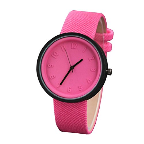 Unisex Watches,Hosamtel Boys Girls Simple Fashion Number Quartz Canvas Belt Wristwatch (Hot (Geneve Movement)