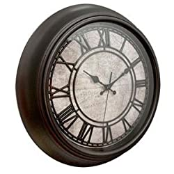 Clock Wall Round 14 Inch Map