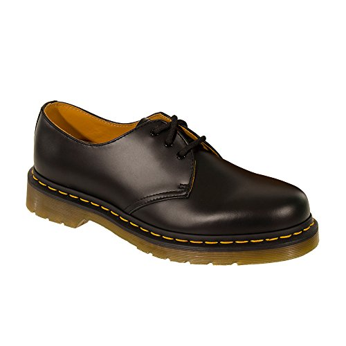 Leather Eyelet Work 1461 Black Shoes 3 Dr Black Office Size Martens Women Laceup Men wqE1nXz