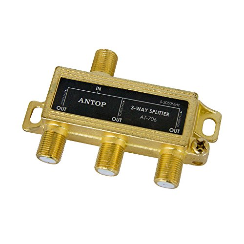 2ghz Rf Splitter 3 Way - 3 Way TV Signal Splitter,ANTOP Digital Coax Cable Splitter 2GHz- 5-2050MHz High Performance for Satellite/Cable TV Antenna