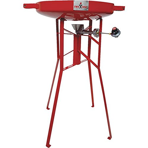 FireDisc - Deep 36'' Backyard Plow Disc Cooker - Fireman Red | Portable Propane Outdoor Camping Grill by BTI Outfitters