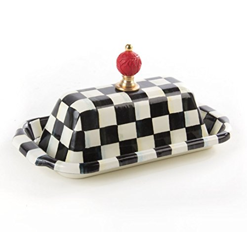 Courtly Check (MacKenzie-Childs Courtly Check Enamel Butter Box)