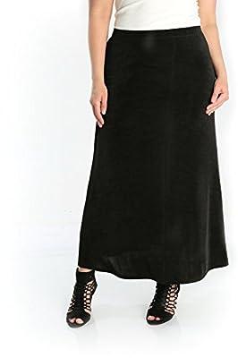Vikki Vi Women's Plus Size A Line Maxi Skirt