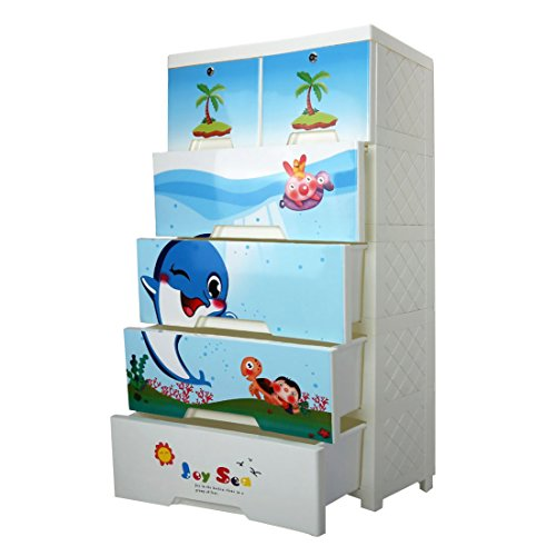Children Closet Plastic Drawer Chest, Wardrobe Storage Organizer Extra Large Wardrobe with Clothes Toys Books for Bedroom, Living Room Furniture for Shoes Clothes