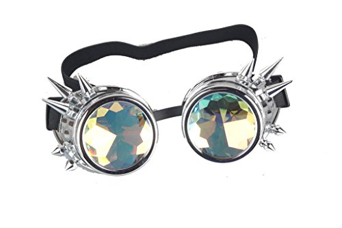 Hotest Sale! Retro Vintage Victorian Steampunk Kaleidoscope Goggles Glasses Welding Cyber Punk Gothic Eye Protection Equipment For Cosplay Dance
