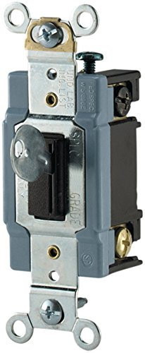 Industrial Toggle Light Switch - Eaton AH1201L 15 Amp 120/277V Industrial Grade Toggle Switch - Locking