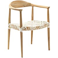 Safavieh Home Collection Wade Light Oak Teak Wood Arm Chair