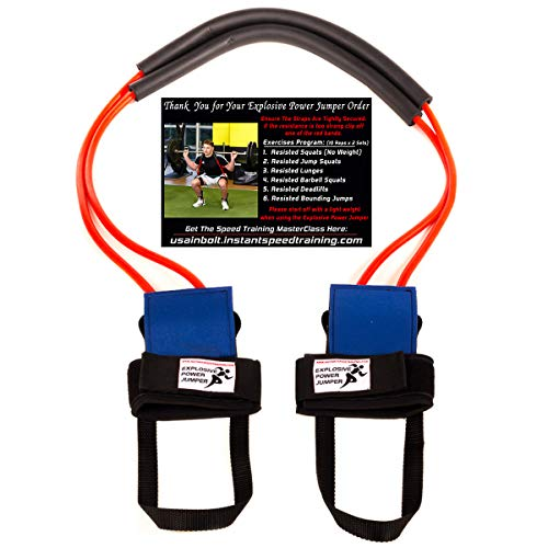 Explosive Power Jumper, Resistance Bands for Increased Speed, Vertical Jump, Leg Strength, Agility and Acceleration | Used by Ronaldo and Athletes of All Sports, Training Program Included (Best Exercises To Increase Vertical Jump)
