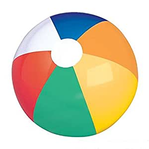 "24"" Multicolored Beach Ball. One Dozen."