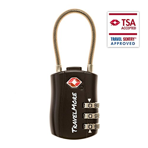 TSA Approved Travel Combination Cable Luggage Locks for Suitcases – 1, 2 & 4 Pack