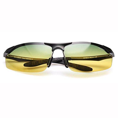 Al Día De De Noche MG Conductor Gafas Color Uso ZX Sol ZX Anti masculinas gafas UV Reflejante Dual Anti 2 1 de sol Hombres Y Aleación 8RqnwUYHZn