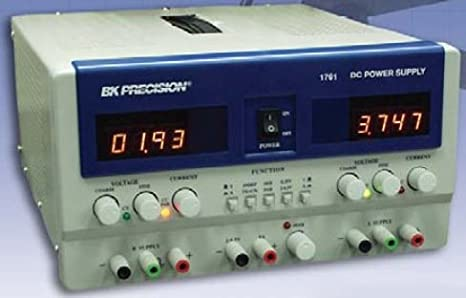 B&K Precision 1761 Triple Output DC Power Supply with 4 Digit LED Display,  (A & B) 0-35V, 0-3A, (C) 2-6 5V, 5A