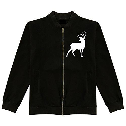 Deer Hunter Jackets (Deer Hunting Hunter Classic Bomber Jacket Medium Black)