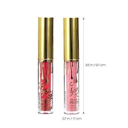 Frcolor 6 Pcs Lipstick Matte Liquid Lip Gloss Set Lip Liner for Make Up Use