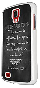 SAMSUNG Galaxy S4 I9500 But He Said To Me 'My Grace Is Sufficient For You For My Power Is Made Perfect In Weakness 2 Carinthians 212 Design Case Back Cover Hard plastic / Thin Metal