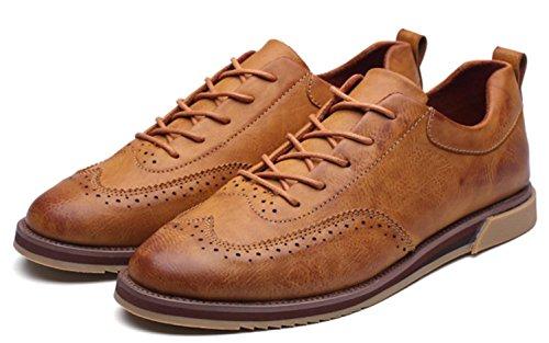 Uomini di CSDM Nuovi sport di svago i pattini di affari Nuovi scarpe casuali intagliate della molla di modo , brown , 42