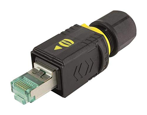 RJ45 Cat6a Plug 8 Contacts HARTING 09451451521 Modular Connector PushPull Series 8 Positions