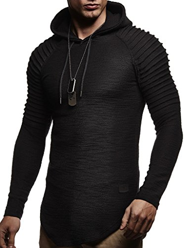 Leif Nelson Mens Pullover Hoodie Long Sleeve t-Shirt Sweater Slim fit Sweatshirt by Leif Nelson