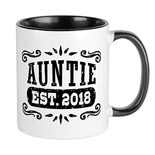 CafePress Auntie To Be 2018 Unique Coffee Mug, Coffee Cup