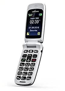 ueFone [D92] 3G Big Button Senior Unlocked flip Cell Phone , SOS Button, Easy to Use