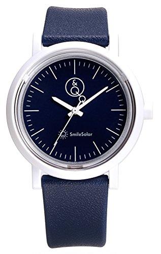 63116a4da5 [キューアンドキュー スマイルソーラー]Q&Q SmileSolar ソーラー アナログ ウレタンベルト ネイビー RP12- · その他腕時計