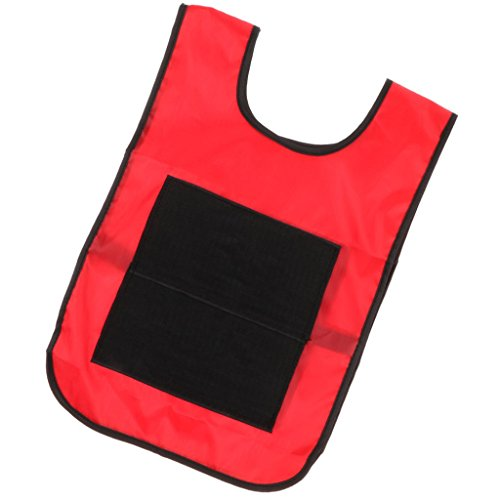 Homyl Sticky Ball Catch Vest, Team Practice Pinnies, Kids Babies Outdoor Game Cloth - Red