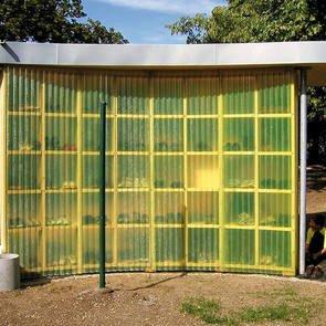 30000 x 1500 mm Polyester Lichtwellbahn//Wellpolyester gelb transparent