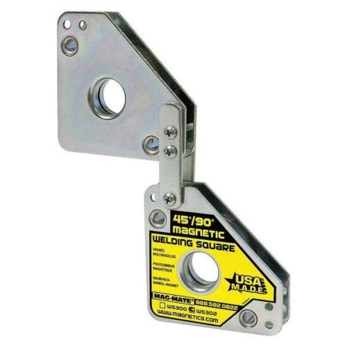 Magnetic Welding Square, Angle Multiple, 7-5/8x3-3/4in,120lb, by Azaleahome